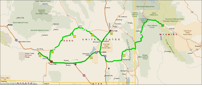Hagerman Idaho Map.Roving Reports By Doug P 2012 27 American Falls Idaho