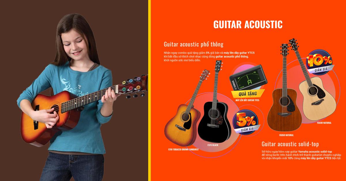Mua đàn guitar cho trẻ em giá rẻ phù hợp với độ tuổi