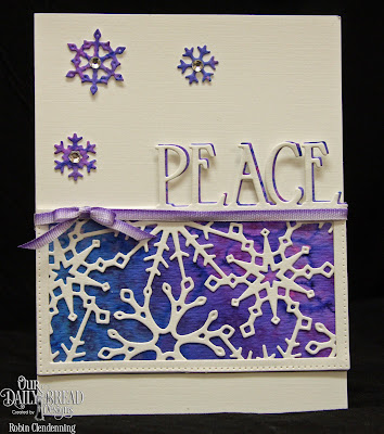 Our Daily Bread Designs Custom Dies: Snowflake Sky, Snow Crystals, Peace Border