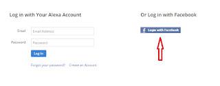 daftar alexa dengan akun facebook