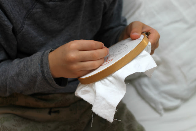 embroidery with kids