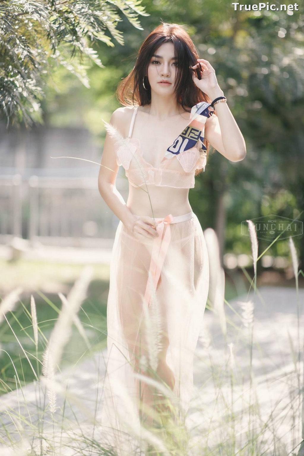 Image Thailand Model - ลฎาภา รัชตะอมรโชติ - Pink Transparent Lingerie - TruePic.net - Picture-9