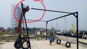 Hati-hati, Wahana Permainan di Taman Sport Center Ancam Keselamatan Anak-anak