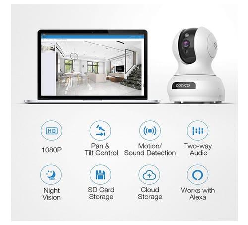 Conico COC12WB01 1080P Indoor Baby Monitor Camera
