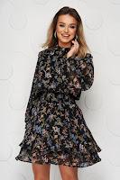 Rochie cu imprimeu floral din voal