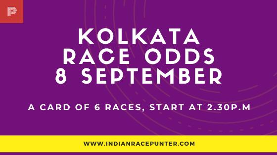 Kolkata Race Odds 8 September