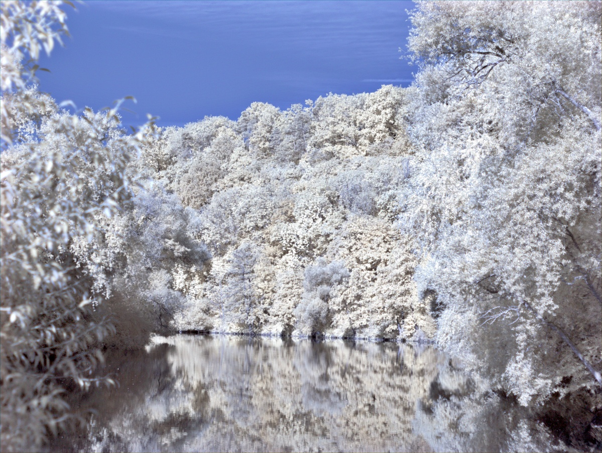 Wasser reflektiert Infrarotstrahlen