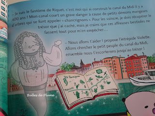 Bulles de Plume - Une aventure de Violette Mirgue - Le trésor du canal du Midi