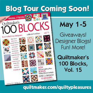 quiltmaker's 100 blocks vol. 15 blog tour