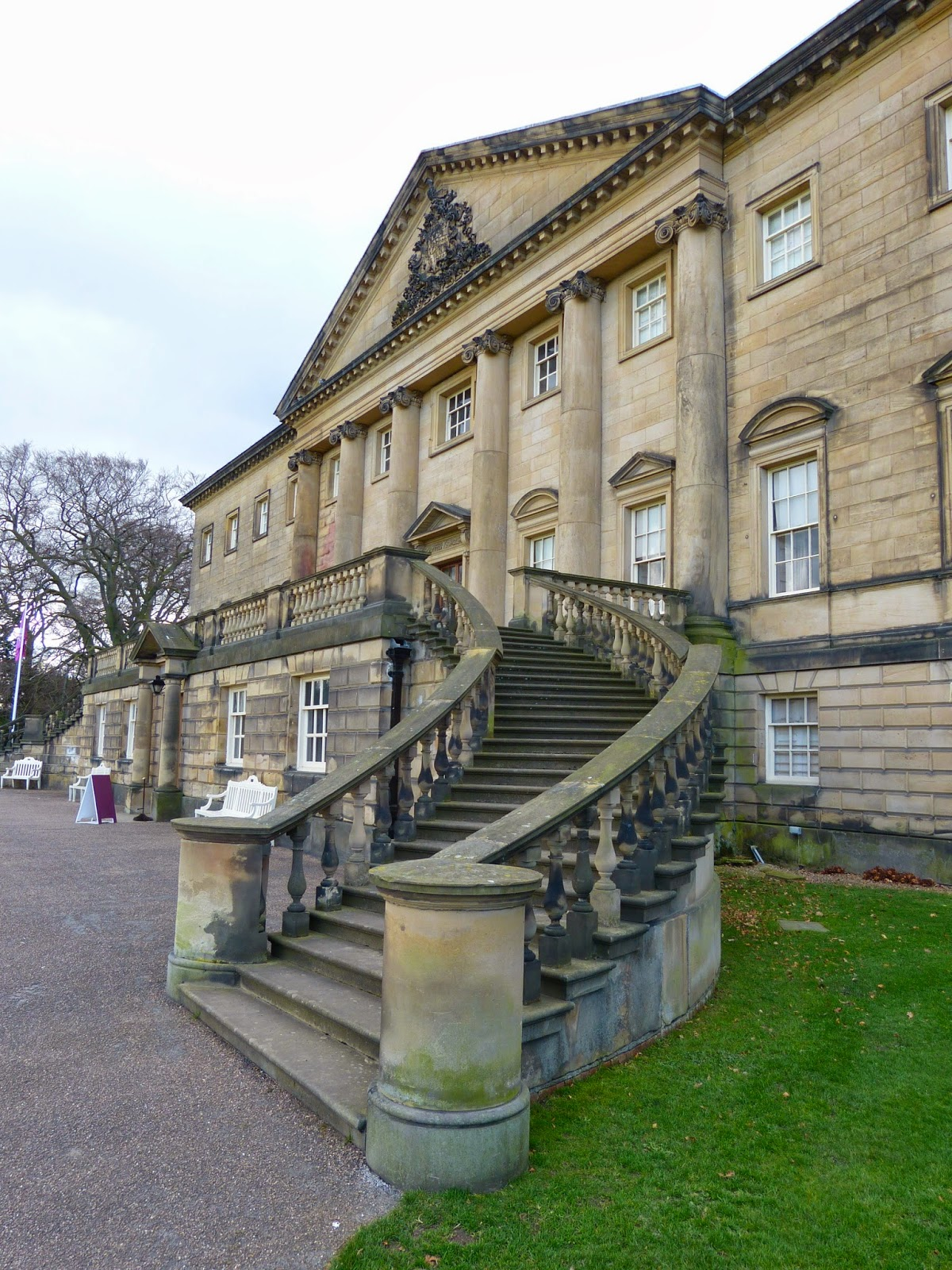 Robert Adam's sweeping stairway leading  to the first floor entrance hall of Nostell Priory