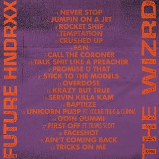 America Rapper, Future Releases Tracklist, Release Date For His Album, 'The Wizrd'