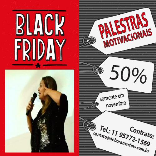 Palestrante Debora Martins Black Friday Palestras