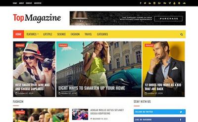 TopMagazine SEO Optimized Blogger Template