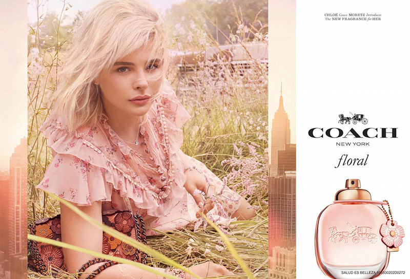 CHLOE GRACE MORETZ FOR COACH 'FLORAL' FRAGRANCE