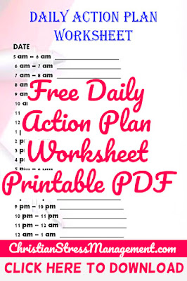 Free Daily Action Plan Worksheet Printable PDF
