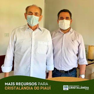 Moisés Filho busca recursos em Brasília para Cristalândia do Piauí