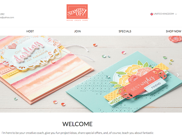 So exciting, I have a Fab New Website and Shop for all your Stampin Up needs..