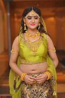 Sony Charishta in Green Choli Ghagra Transparent Chunni Ethnic Wear March 2017 052.JPG