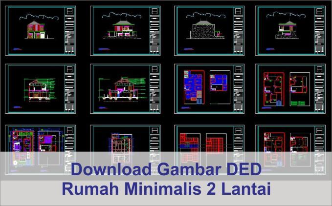 download DED rumah minimalis 2 Lantai