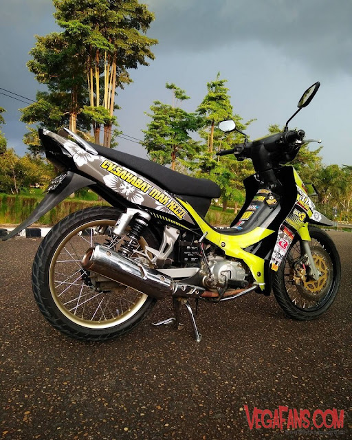 Modifikasi Jupiter Z Hitam Kuning Modif Road Race Simple