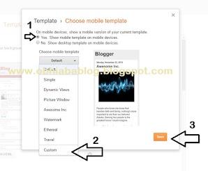 Customize Blogger Custom Mobile Template