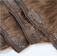 Traditional clip-in hair extensions