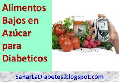 3 Alimentos Bajos en Azucar para Diabéticos: nivel de