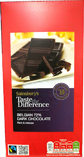 Sainsburys Belgian taste difference dark chocolate