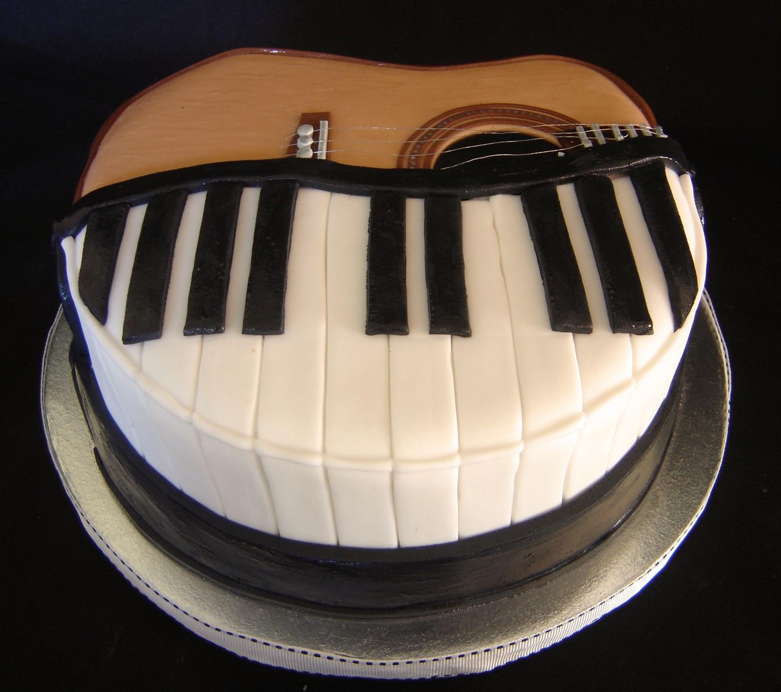 Cake Till U Drop Guitar Piano Cake