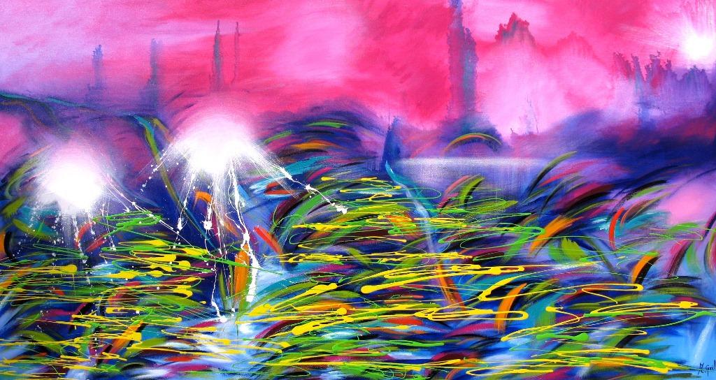 Imágenes Arte Pinturas: PAISAJES MODERNOS COLORIDOS