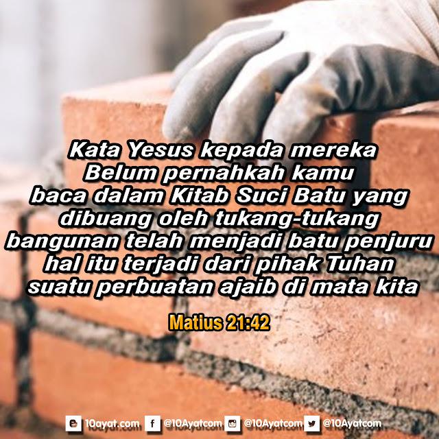 Matius 21:42