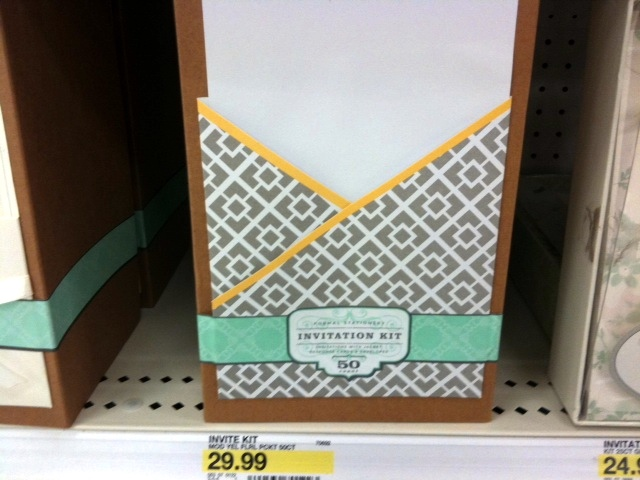 Target Wedding Invitations Kits: 2000 Dollar Budget Wedding: Wedding Invitations From Target