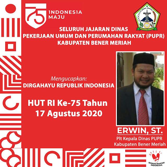 ERWIN, ST. - Plt Kepala Dinas PUPR Kabupaten Bener Meriah by LensaHukum.co.id