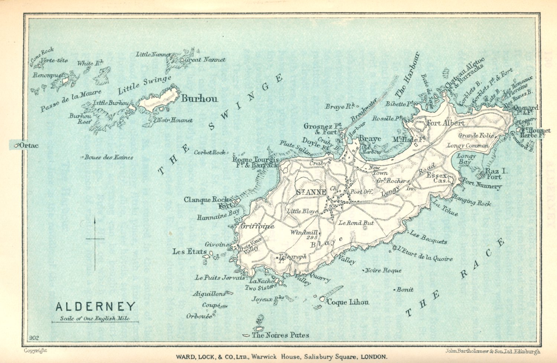Mapas das Ilhas Alderney (Alderney Islands) | Reino Unido