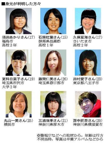 Takahiro Shiraishi -Victims