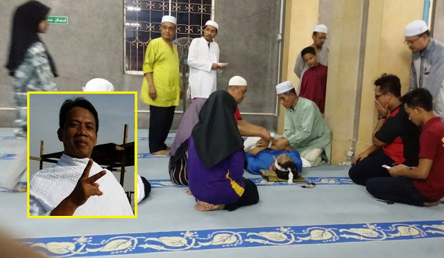 Kadi Rebah Ketika Baca Doa Selepas Solat Isyak Malam Nisfu Sya'ban