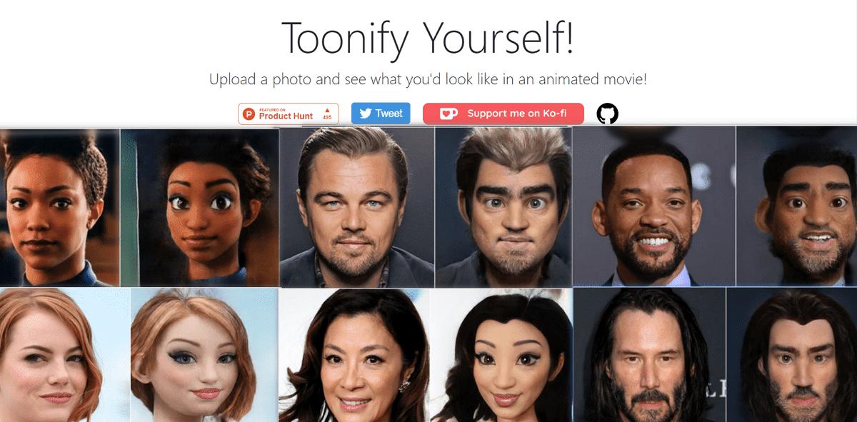 Toonify!成迪士尼動畫風格大頭照