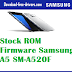Stock ROM Firmware Samsung A5 SM-A520F