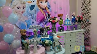 Decoração de festa infantil Frozen em Porto Alegre