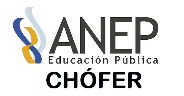 Llamado público y abierto - Chófer - ANEP
