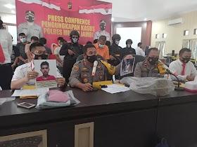 Polres Muaro Jambi Ungkap Kasus Pembunuhan Berencana menggunakan cangkul
