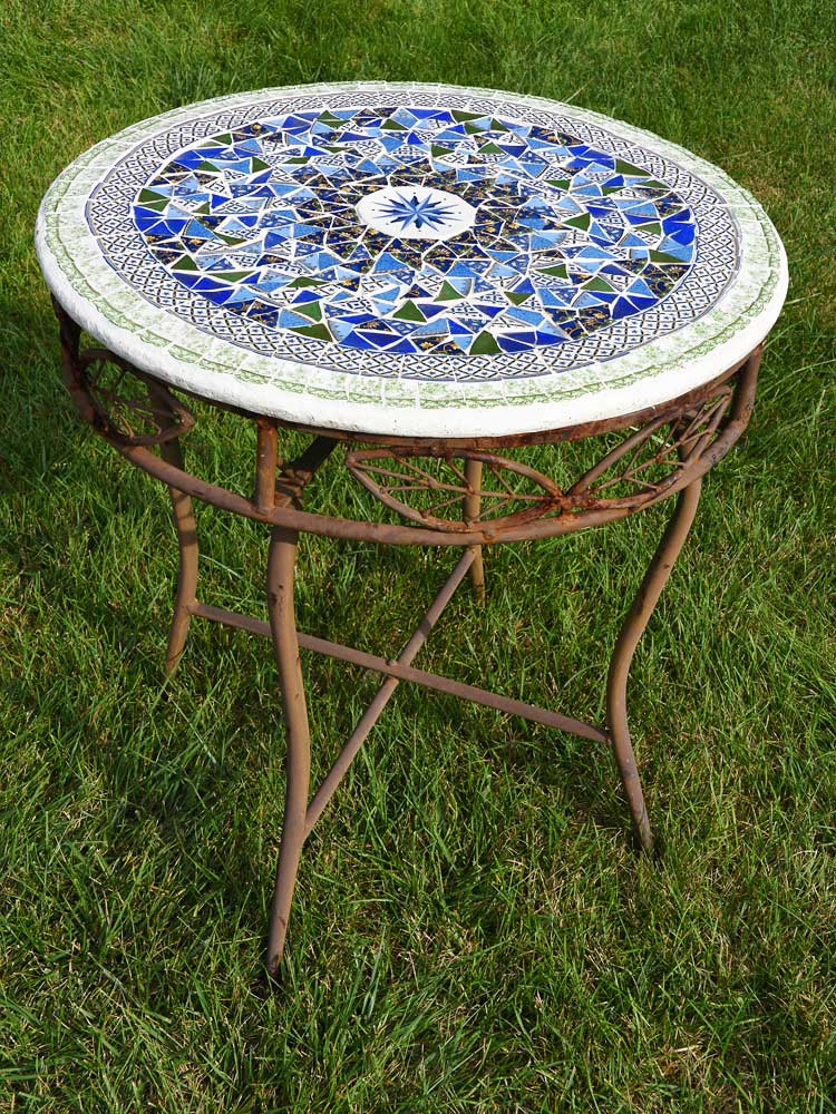 Repurposed Mosaic Table