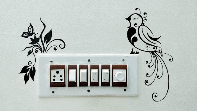 Wall Painting Design For Switchboard