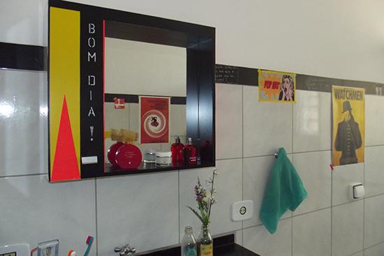 cores no banheiro, espelho colorido, decoracao banheiro, bathroom decor, bathroom, banheiro