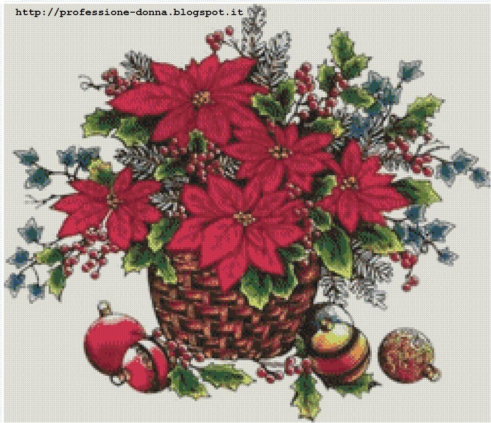 Stella Di Natale Punto Croce.Professione Donna Speciale Natale Quadretto Con Stella Di