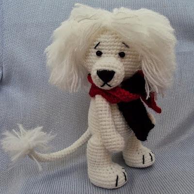 Лев вязаная игрушка крючком
