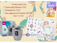 LOVI Italia : vinci gratis Scaldabiberon, coperta Baby Milstone e Pannolini Happy