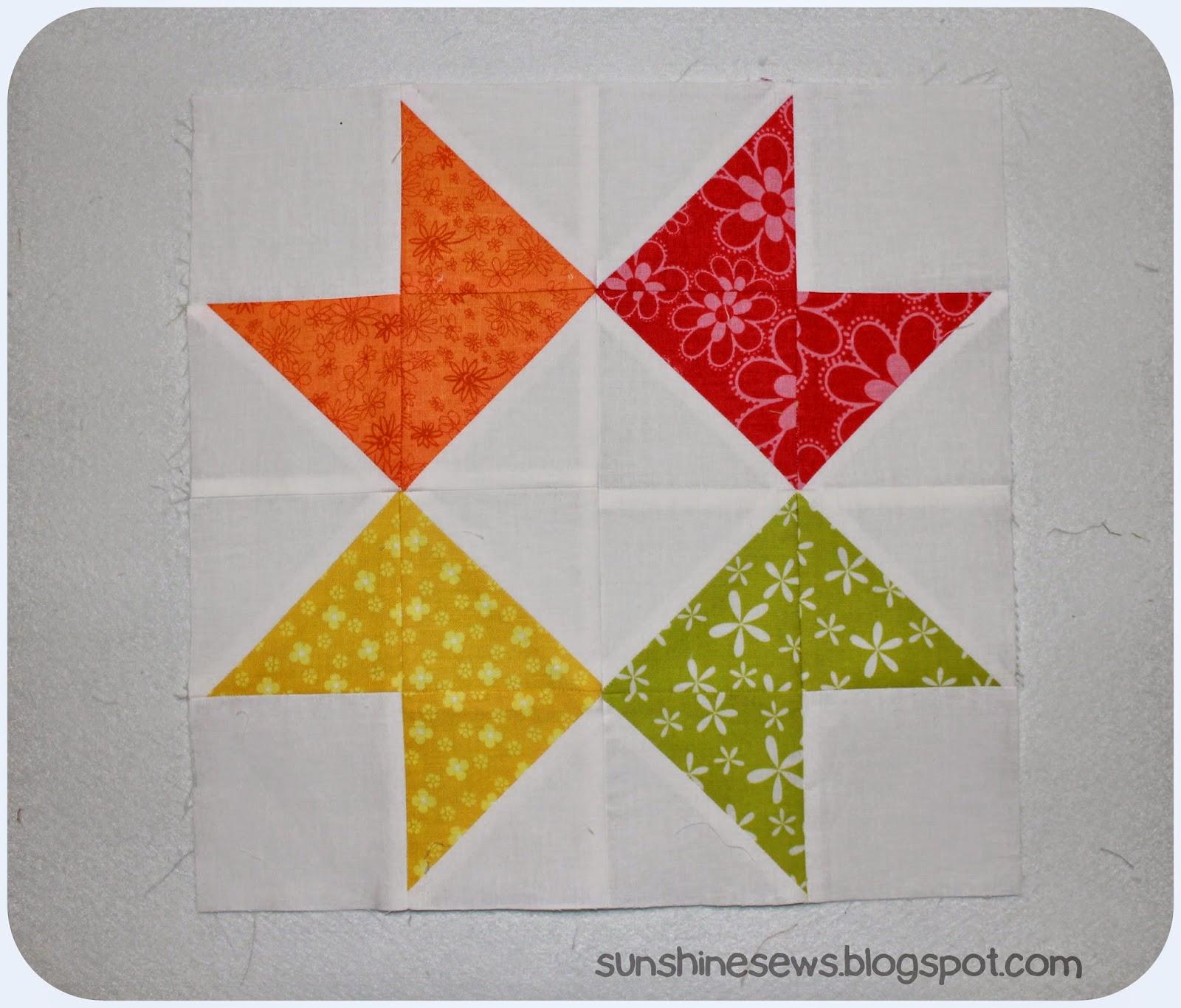Sunshine Sews Solstice Star Series Ribbon Star