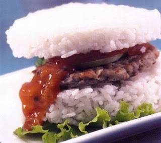 Rice Burger with Black Pepper Beef Recipe