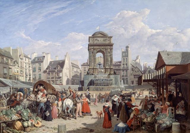 La fontaine et le marché des innocents